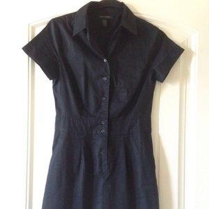 Banana Republic Black Button Up Shirt Dress 0